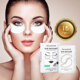Collagen Eye Patches - Moisturizing Under Eye Pads - Anti Puffiness & Dark Circles Spa Treatment - Best Hydrogel Eye Moisturizer for Women & Men - Gel Masks for Dry Skin Under Eye Zone, 15 Pairs