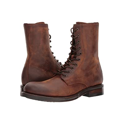Frye Folsom Combat (Redwood Waterproof Smooth Pull Up) Men