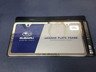 Subaru GENUINE LOGO SLIM LINE CHROME LICENSE PLATE FRAME SOA342L152 Fits ALL MODELS