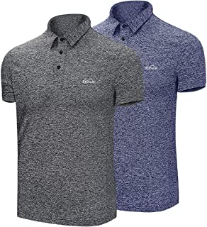 LIFINAIS Polo Shirts for Men Moisture Wicking Short-Sleeve Polo Golf Shirts Athletic Casual Collared T-Shirt