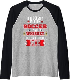 Doesn't Involve Soccer & Whiskey Sports Fan Raglan Baseball Tee