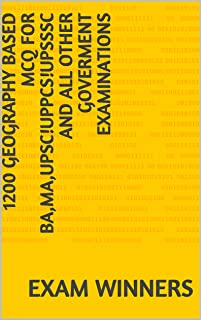 1200 Geography Based Mcq for BA,MA,UPSC!UPPCS!UPSSSC AND ALL OTHER GOVERMENT EXAMINATIONS (AKD 4)