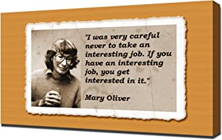 Mary Oliver Quotes 5 - Canvas Art Print