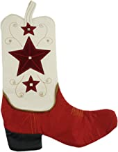 Tan Western Cowboy Boot Christmas Stocking