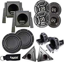 $1099 » SSV Works for Polaris Slingshot - Front & Rear Speaker Pods with Polk DB652 Speakers & Sub Enclosure with DB1042SVC Sub