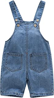 Kidscool Baby & Toddler Big Pockets Ripped Holes Summer Jeans Shortalls