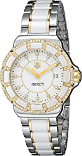 TAG Heuer Women's WAH1221.BB0865 Formula 1 Two-Tone Bracelet Watch with White Ceramic and Diamonds