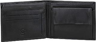 Nuvola Pelle Men Leather Wallet RFID Blocking Men`s Wallets Credit Card Holder Coin Pocket Purse Black