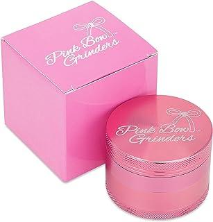 Pink Bow Grinder - 2.5 Inch Herb Grinder- First Designer Grinder- The Best Rated Herb Grinder- 4-piece Anodized Aluminum