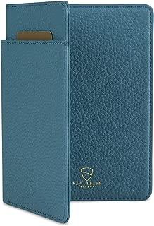 Vaultskin Kensington Leather Passport Wallet with RFID Protection (Matt Turquoise)