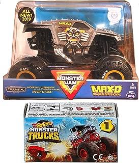Hot Wheels Max Crew Monster Jam Big Action 2019 Maximum Destruction Max-D Blind Box Series Mini Monster Truck with Launcher