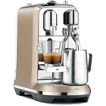 Breville Nespresso Creatista Single Serve Espresso Machine with Milk Auto Steam Wand, Champagne, one size (BNE600RCHUSC)