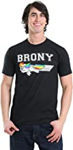 My Little Pony Brony Swoosh Color Black Mens T-shirt Tee