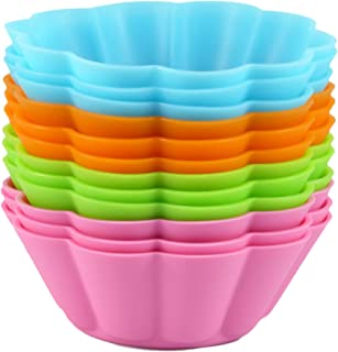 Bakerpan Silicone Cupcake Holders, Baking Cups, Flower Shape, 12 Pack