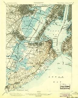 topographic map staten island ny