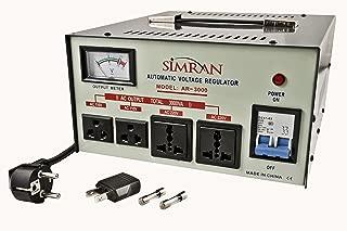 Simran AR-3000 Power Converter Regulator Stabilizer Voltage Transformer, 3000 WATT, Grey