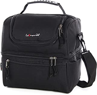 LEONARDO LEO50300 Bolsa térmica para almuerzo, bolsa térmica para almuerzo de 12.5L, bolsa de almuerzo impermeable de gran capacidad, bolsa de hombro para refrigerador, bolsa térmica para almuerzo, bo