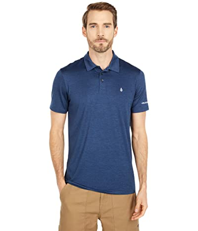 Volcom Hazard Perf Short Sleeve Polo (Navy Heather) Men