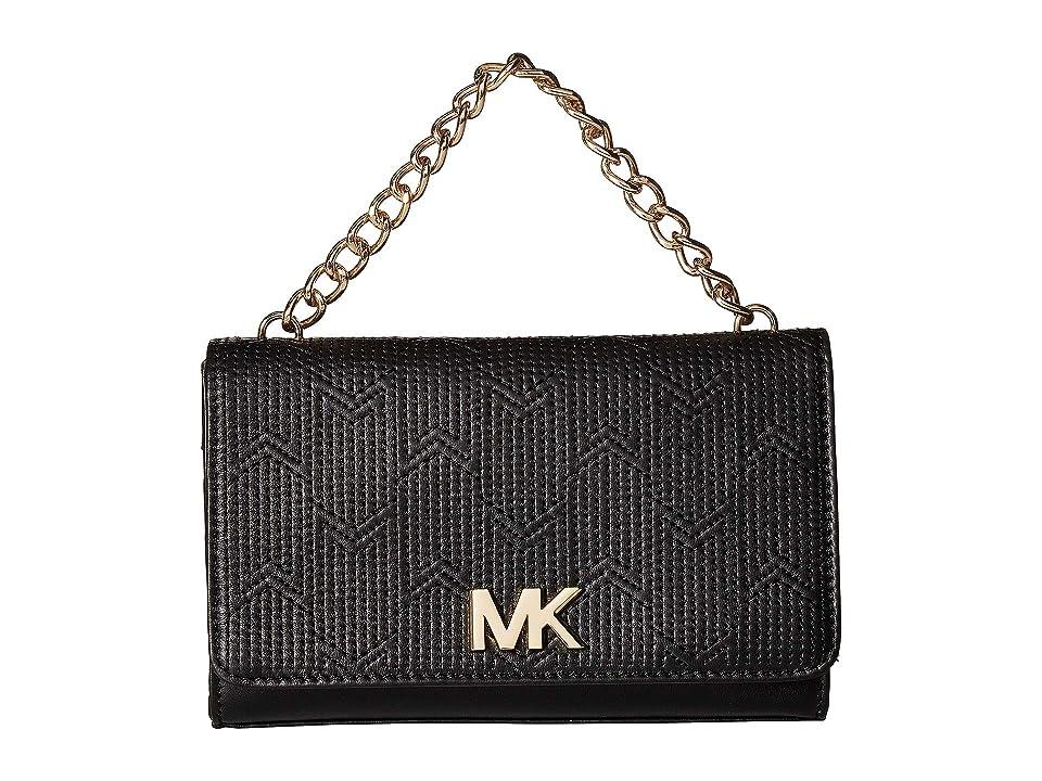 MICHAEL Michael Kors Deco M Quilt Belt Bag (Black/Light Polished Gold) Women