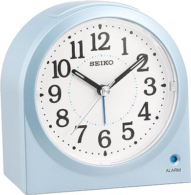 セイコー クロック 目覚まし時計 アナログ 薄青 パール KR894L SEIKO