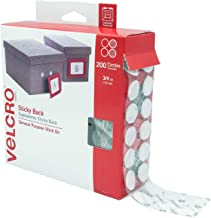 "VELCRO Brand Dots with Adhesive White | 200 Pk | 3/4"" Circles 