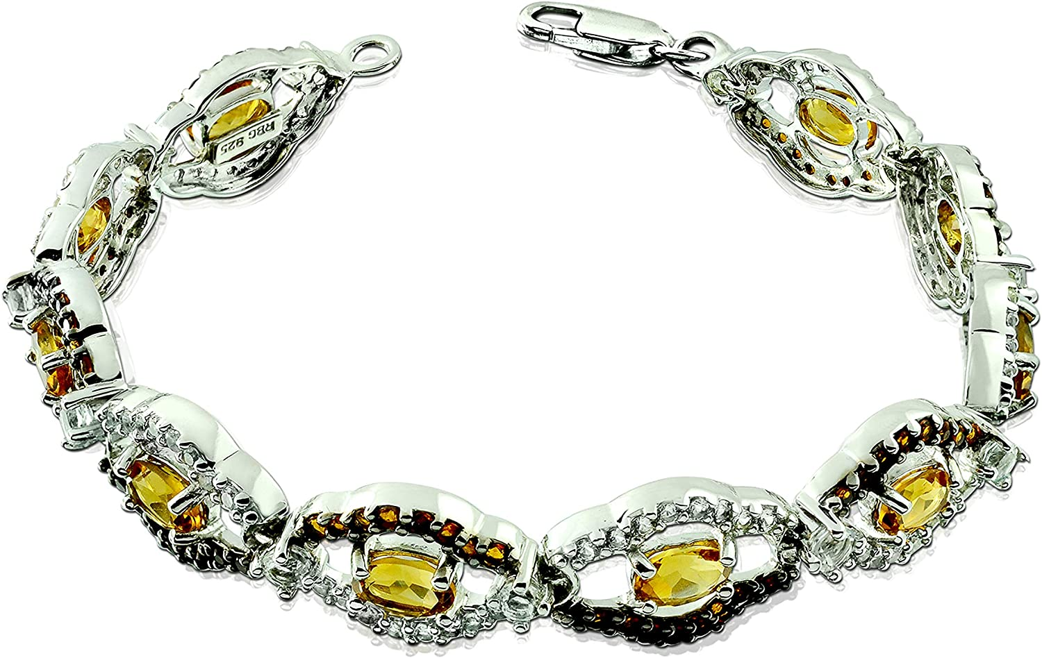 RB Gems Sterling Silver 925 Tennis All items half free shipping Natural Bracelet Gemst 10 Cts