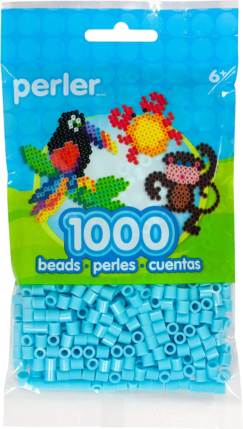 Perler Sky Blue Fuse Beads depot 1000pcs 1000 for Free shipping on posting reviews Crafts Count