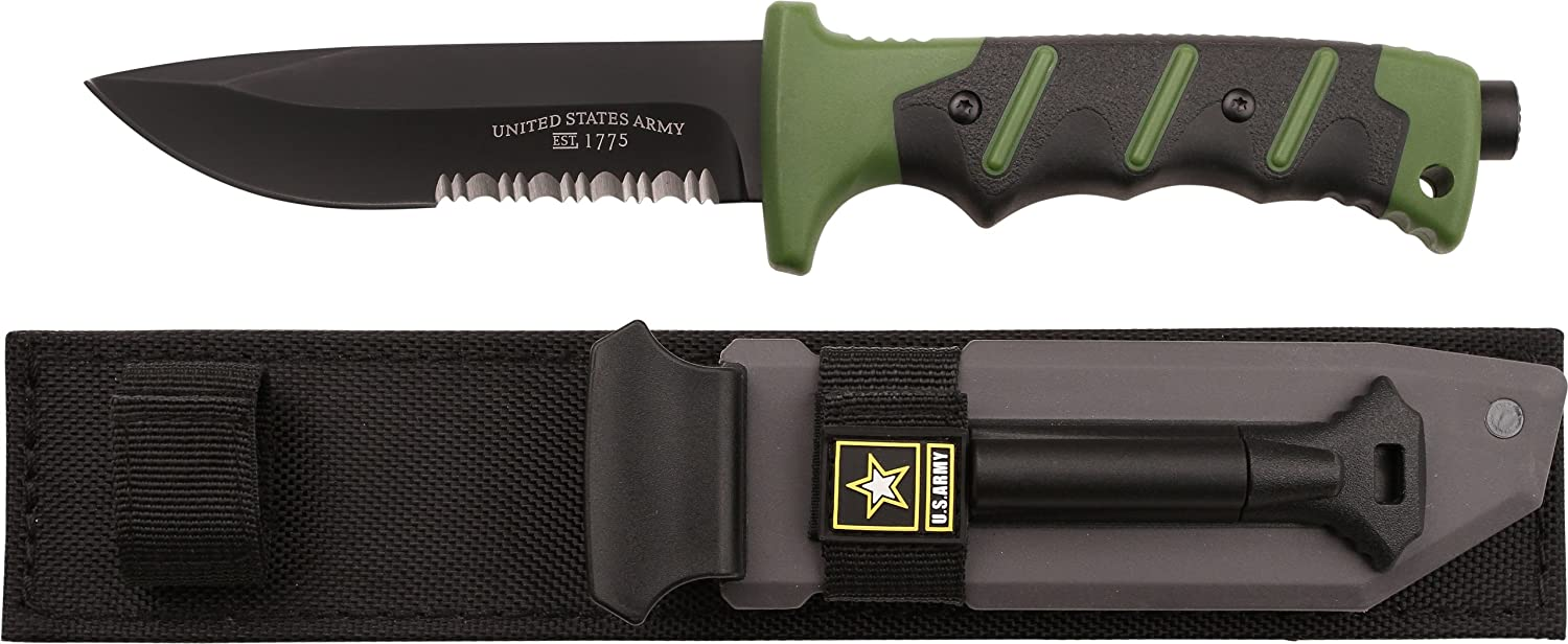 U.S. Army A2001GN Fixed Blade Knife, 10.25Inch, Green