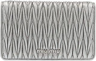 Miu Miu Women's 5BP001IOON88F0135 Silver Leather Clutch