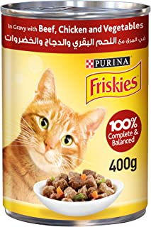 PURINA FRISKIES Beef, Chicken and Vegetables in Gravy Wet Cat Food 400g, Purina - Friskies, N.A, 12450796-1