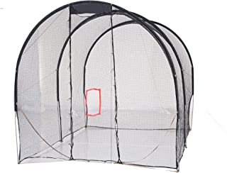 Double Purpose Baseball prictice Net with Extra Baffle Net 16' (L)X10' (D)X10' (H) /500 x 300 x 300cm Baseball Batting cage 16mm High Strength Steel Frame Softball Batting cage Training netOutdoor