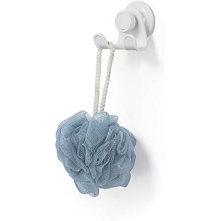 UMBRA Double Hook Flex Gel-Lock™. Double crochet de douche Flex avec technologie de ventouse brevetée Gel-Lock™, pour fleur de douche, rasoirs et gants. Coloris blanc.