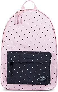 Vintage Backpack, Polka Dots Quartz with Black Polka Dot, Slim Lightweight