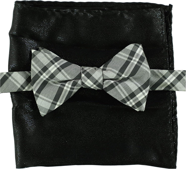 Alfani Mens Beekman Plaid Pre-Tied Bow Tie