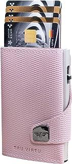 TRU VIRTU Wallet Click and Slide Rhombus Rose/Silver