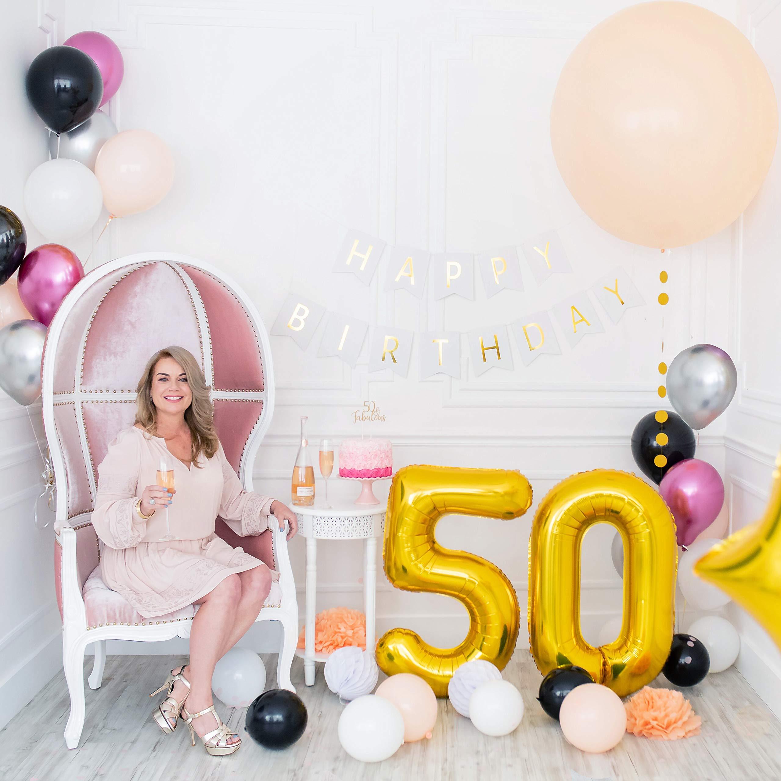50 Shades of Fabulous Black Birthday Balloons Set of 3