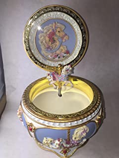 Beautiful Carousel Horse Hinged Trinket Box by San Francisco Music Box