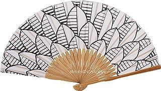 ChicEver Fächer Handfächer aus Bambus & Stoff Handarbeit 7295b