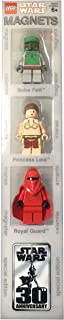LEGO Star Wars Mini Figure Magnet Set 852085 - Boba Fett, Princess Leia, and Imperial Royal Guard Special 30th Anniversary Edition