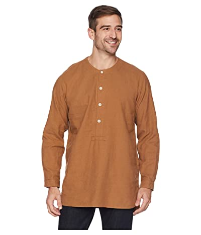Snow Peak Cotton/Wool Flannel Sleeping Shirt (Brown) Men