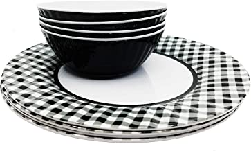 Best black and white gingham dishes Reviews