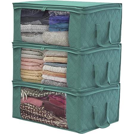 Foldable Storage Bag Clothes Blanket Quilt Closet Sweater Organizer Pouches d0w