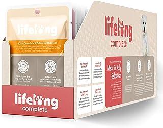 Marca Amazon - Lifelong Alimento completo para perros adultos - Selección de carne en gelatina, 2,4 kg (24 bolsitas x 100g)