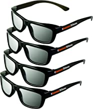 2D Glasses 4 Pack - Turns 3D movies back into 2D - eDimensional 4 Pairs for passive 3D Televisions and for use in RealD 3D Theaters
