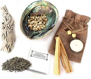Nuvo Zing Smudging Kit with Palo Santo Sticks, Sacred Wood, Abalone Shell, Premium California White Sage, Lavender Sachet