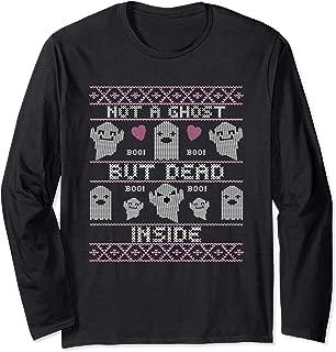 Funny Cute Spooky Halloween Costume Ghosts Dead Inside Long Sleeve T-Shirt
