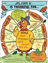 Personal Poster Set: I Am Thankful! (K-2): Write-and-Read Learning Posters Ready for Kids to Display With Pride!
