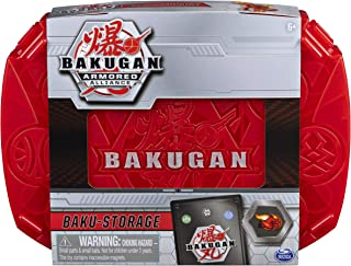 Bakugan, Baku-Storage Case with Dragonoid Collectible Action Figure and Trading Card, Red