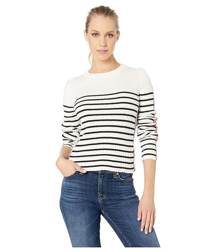 Bishop + Young Marina Crop Sweater (Black Stripe) Women