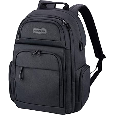 Travel Laptop Backpack 15.6 inch XL Heavy Duty Computer Backpack Pockets Water-Repellent Business College Daypack Stylish School Laptop Bag for Men//Women-Black